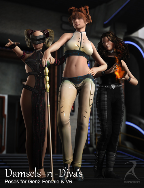Damsels and Divas - Poses by: RawArt, 3D Models by Daz 3D