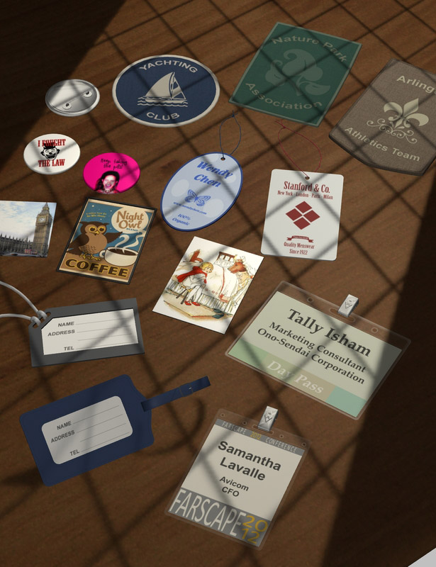 Everyday Labels and Signs by: maclean, 3D Models by Daz 3D