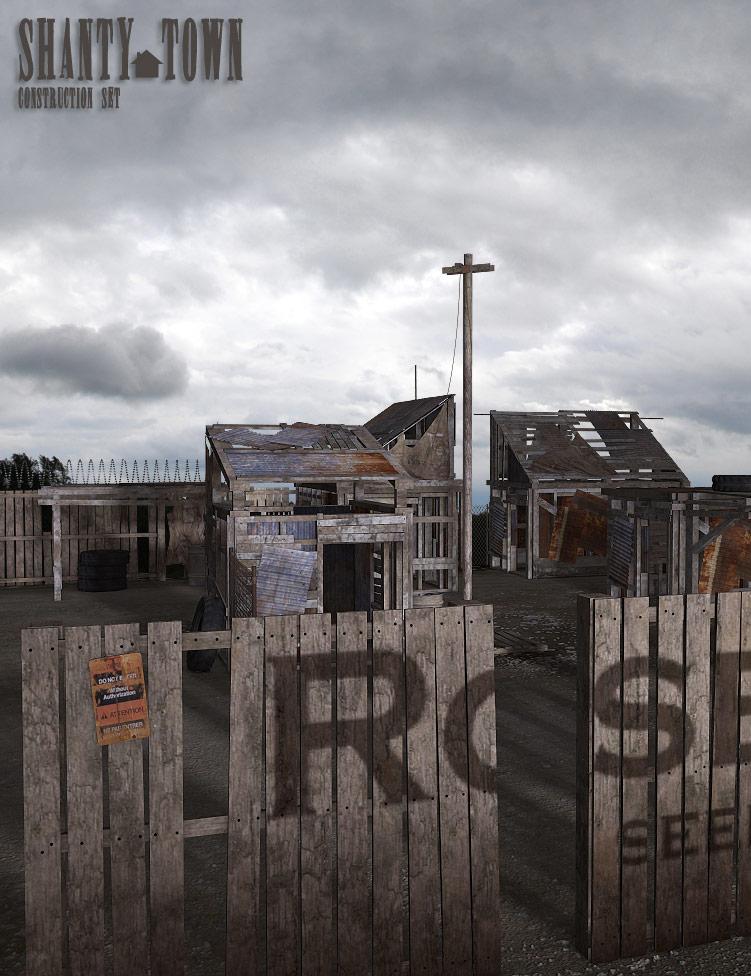 Shanty Town by: The AntFarm, 3D Models by Daz 3D