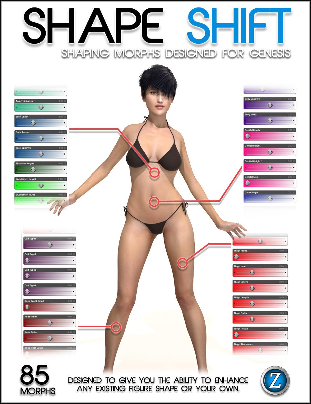 Shape Shift for Genesis by: Zev0, 3D Models by Daz 3D