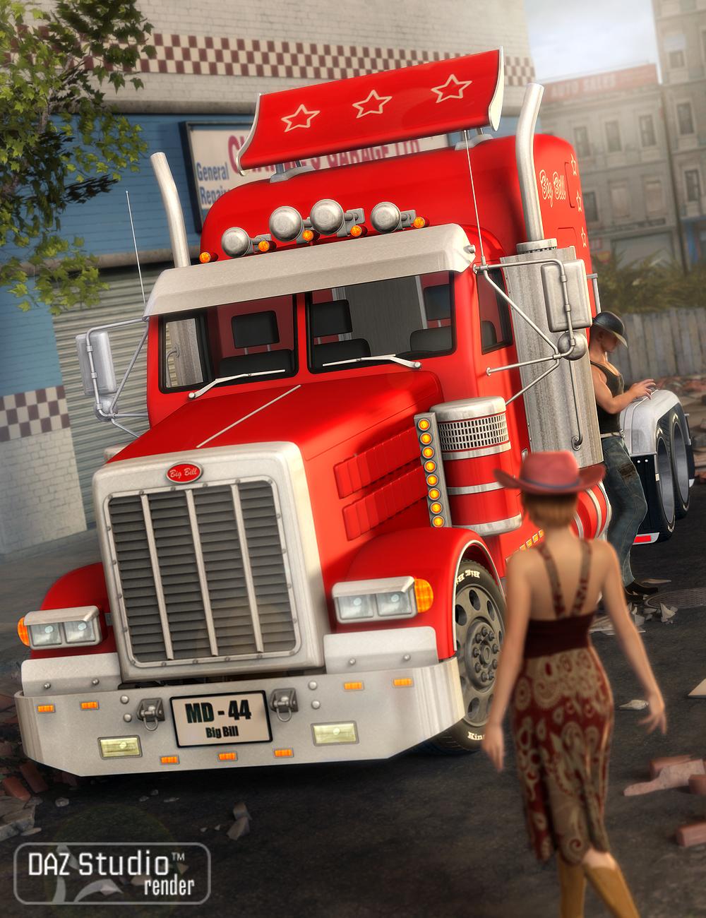 Big Bill Truck by: petipet, 3D Models by Daz 3D