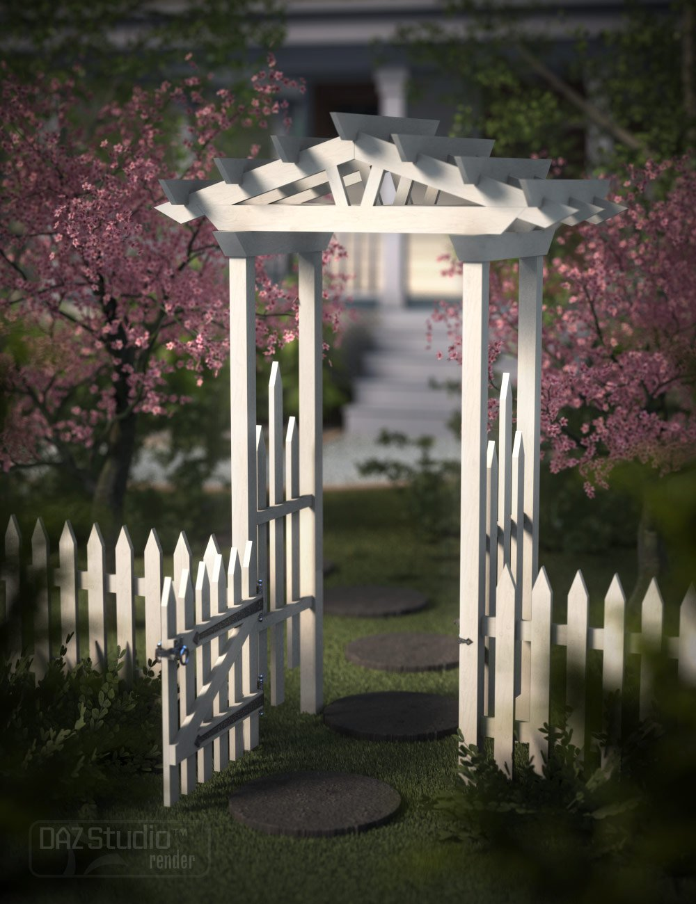 If You Build It - Picket Fence by: Capsces Digital Ink, 3D Models by Daz 3D
