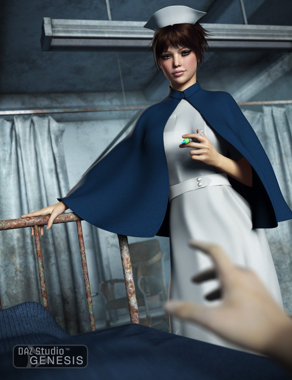 Mad Nurse for Genesis Female by: Ravenhair, 3D Models by Daz 3D