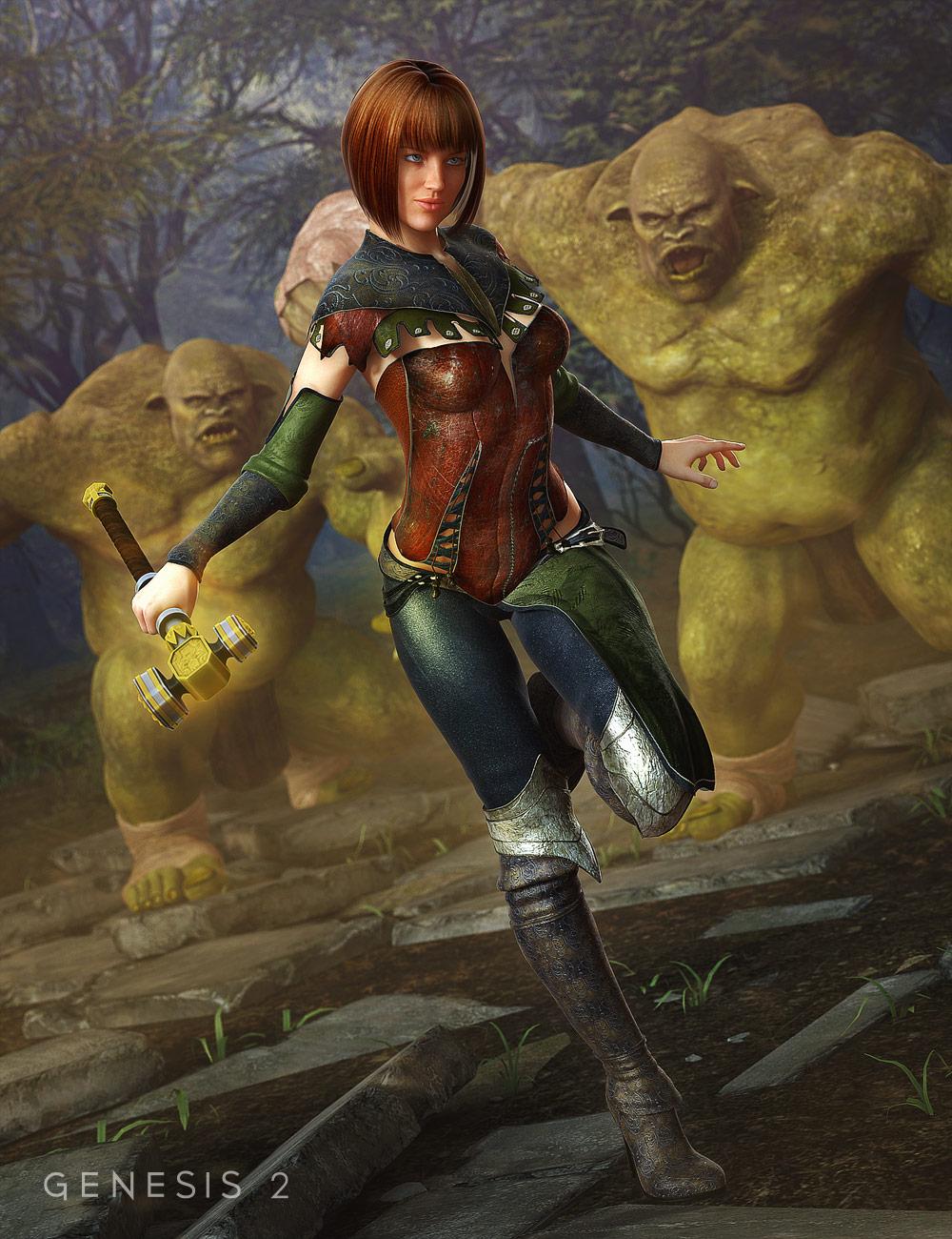 Darkwoods Heroine by: Barbara BrundonSarsa, 3D Models by Daz 3D