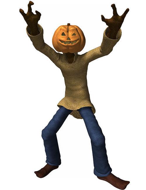 Jack Pumpkin by: , 3D Models by Daz 3D