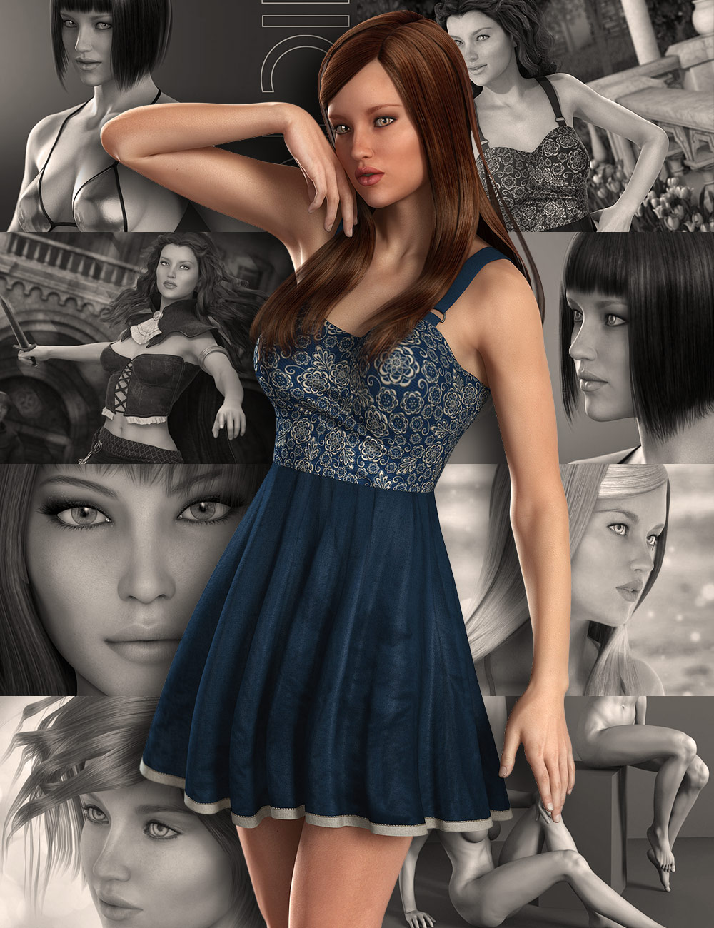 Victoria 6 Starter Bundle by: , 3D Models by Daz 3D