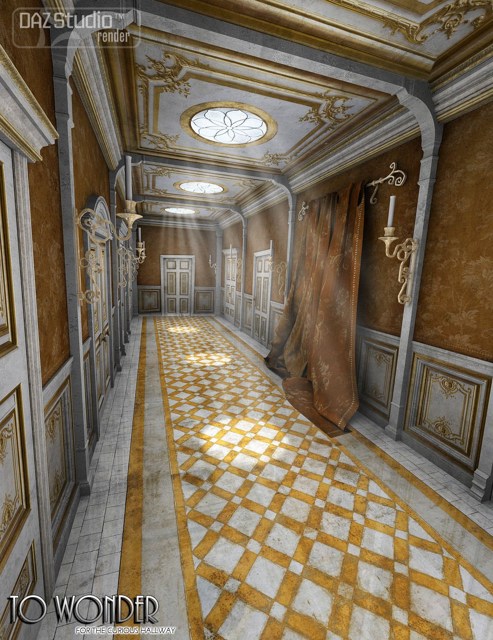 To Wonder for A Curious Hallway by: ForbiddenWhispers, 3D Models by Daz 3D