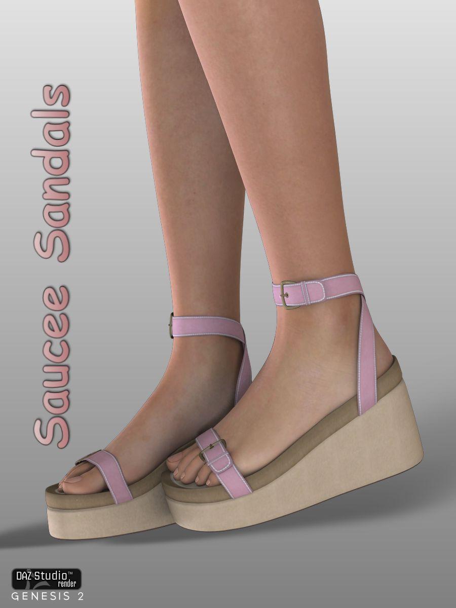 Saucee Sandals by: WildDesigns, 3D Models by Daz 3D