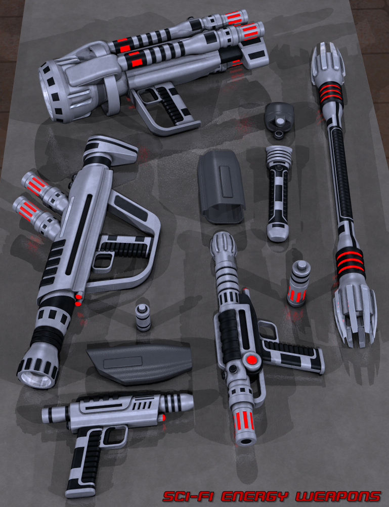 Sci Fi Energy Weapons by: Nightshift3D, 3D Models by Daz 3D