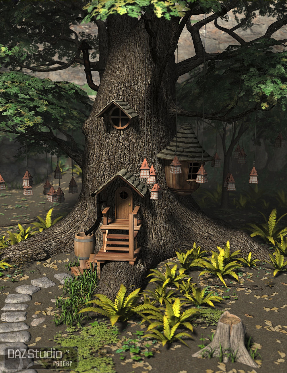 Mystic Hollow by: the3dwizard, 3D Models by Daz 3D