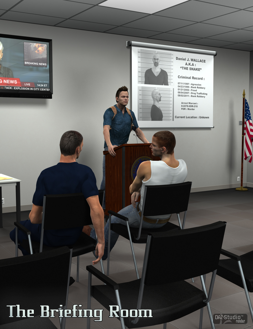 The Briefing Room by: Daz OriginalsV3Digitimes, 3D Models by Daz 3D