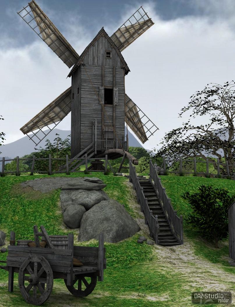 The Windmill by: Merlin Studios, 3D Models by Daz 3D