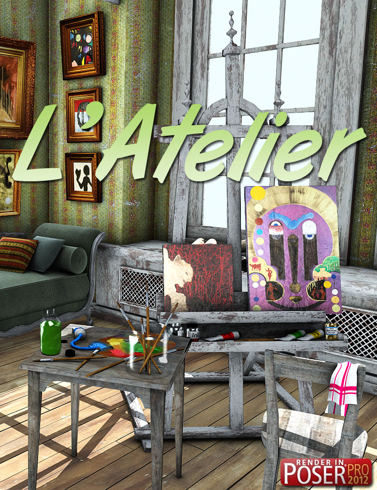 L' Atelier by: powerage, 3D Models by Daz 3D