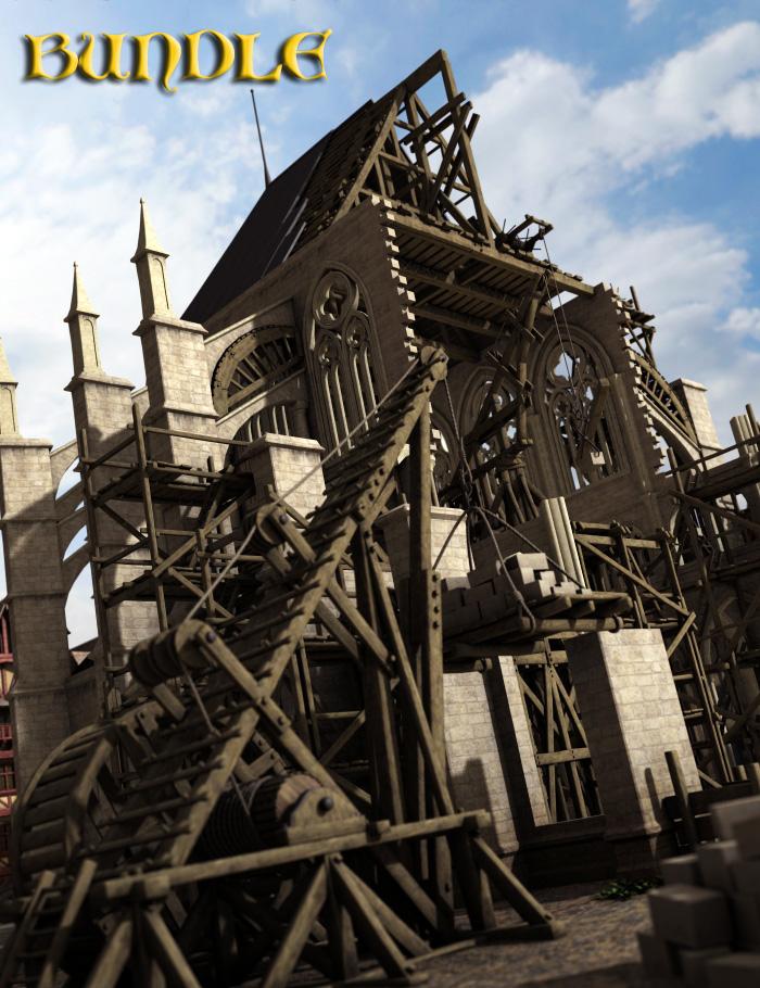 Medieval Construction Bundle by: Faveral, 3D Models by Daz 3D