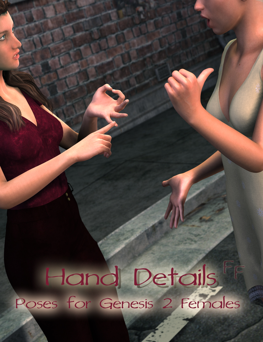 Hand Details for Genesis 2 Female(s) by: FeralFey, 3D Models by Daz 3D