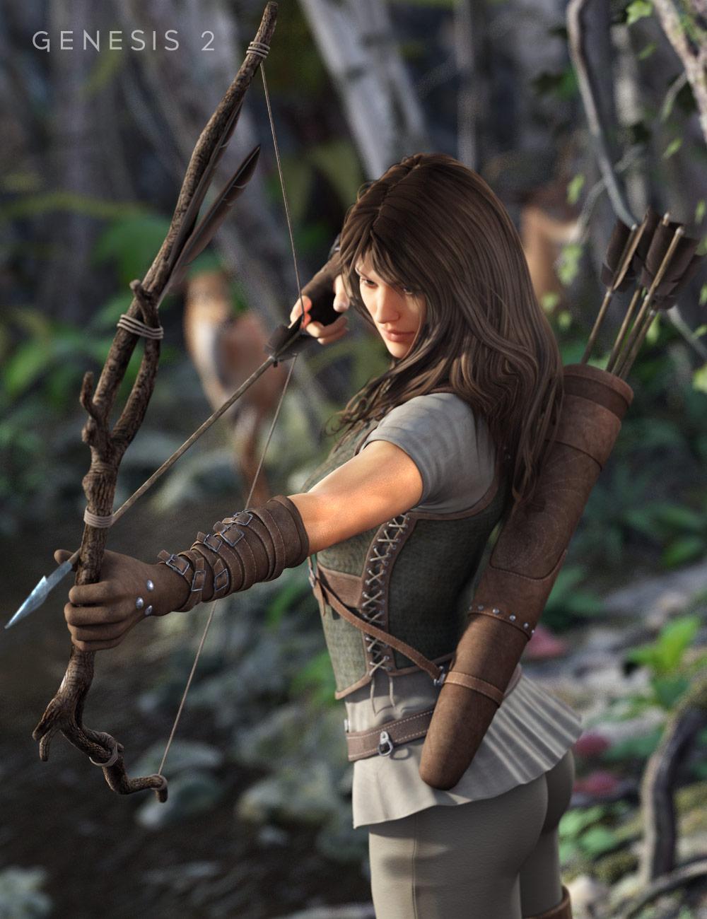 Ranger Props for Genesis 2 Female(s) by: 3D Universe, 3D Models by Daz 3D
