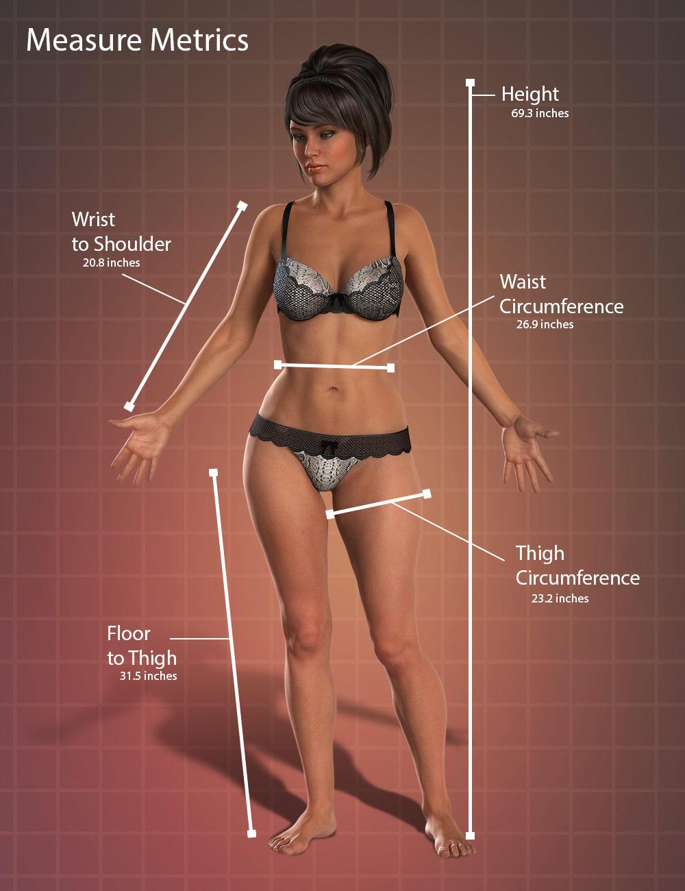 Measure Metrics for DAZ Studio by: Rob Whisenant, 3D Models by Daz 3D