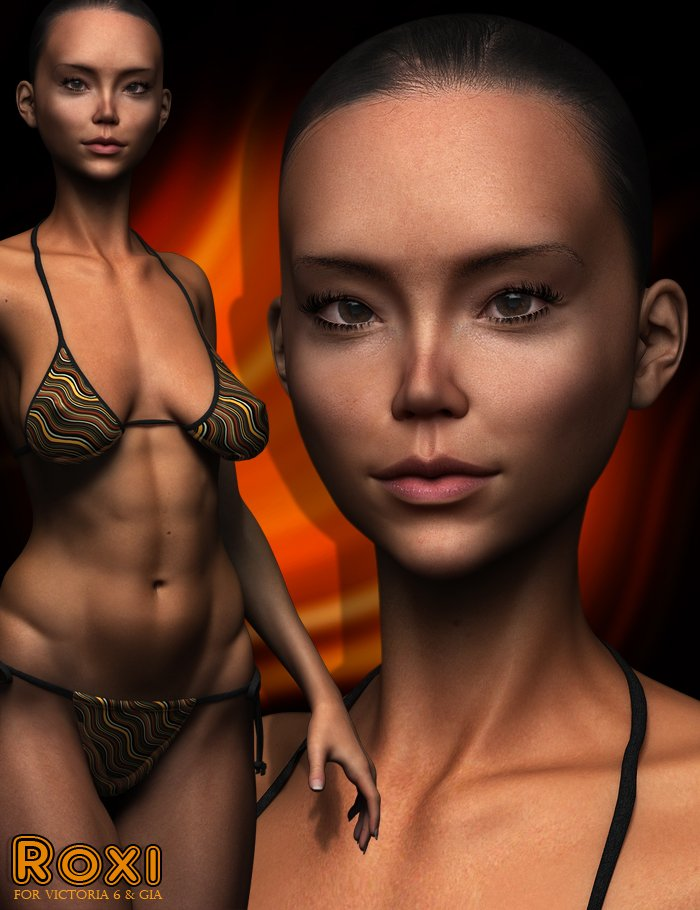 Roxi for V6 and Gia by: ForbiddenWhispersJSGraphics, 3D Models by Daz 3D