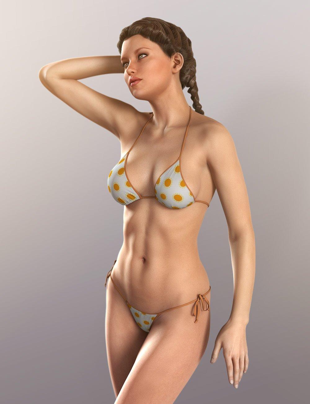 Hongyu's Bikini for V6 by: hongyu, 3D Models by Daz 3D