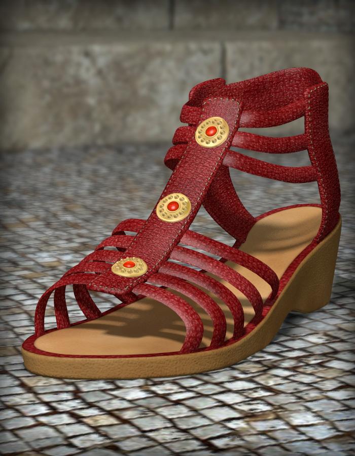 Patchwork Shoes 1 by: esha, 3D Models by Daz 3D