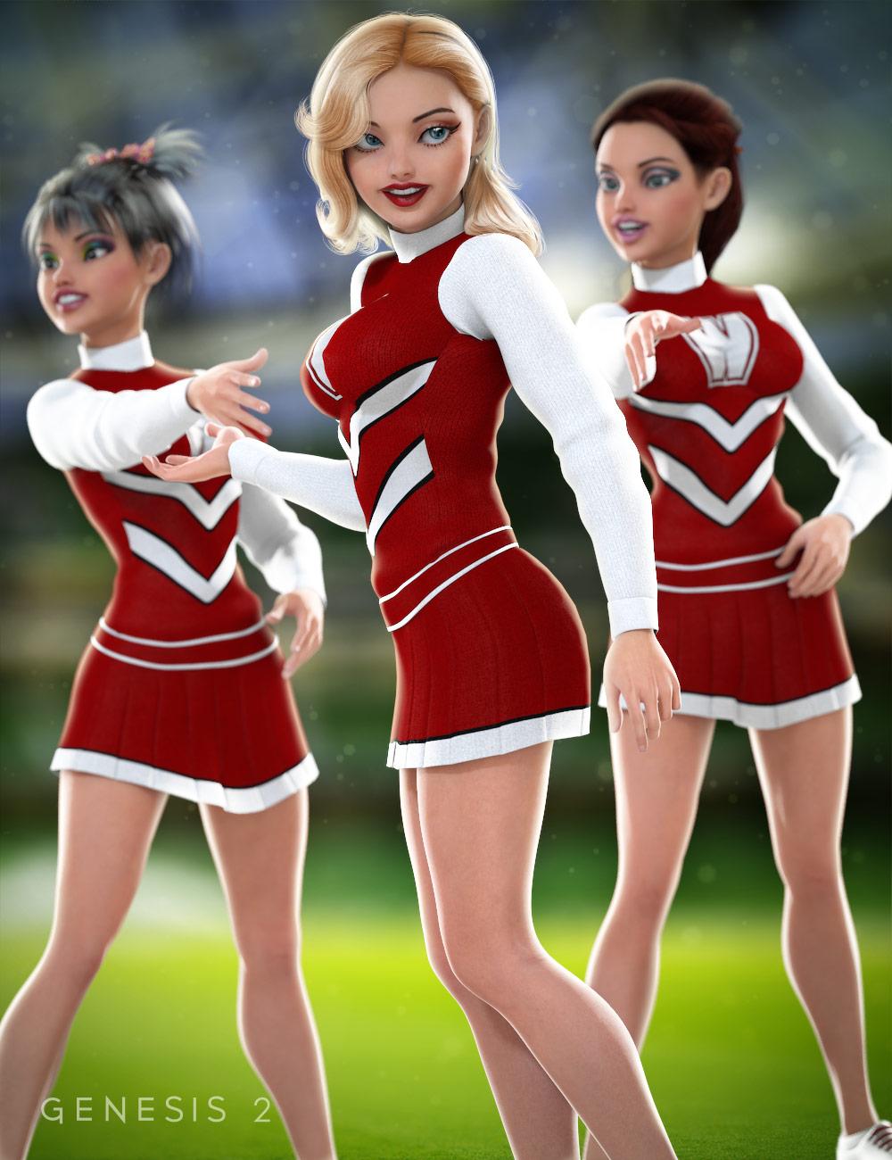 Cheerleader for Genesis 2 Female(s) by: SarsaVal3dart, 3D Models by Daz 3D