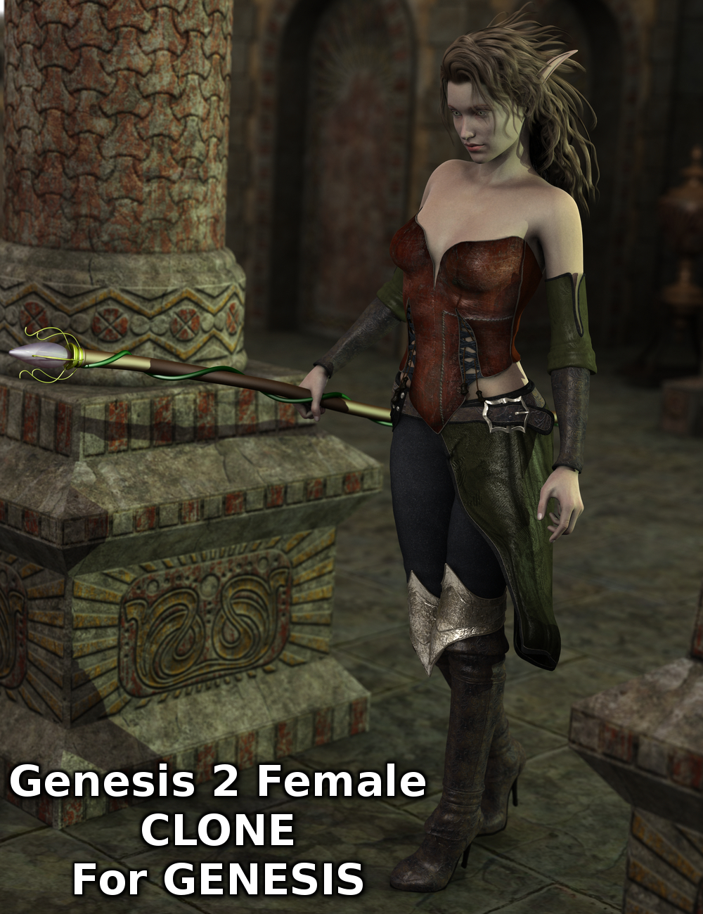 Genesis 2 Female Clone for Genesis by: Sickleyield, 3D Models by Daz 3D