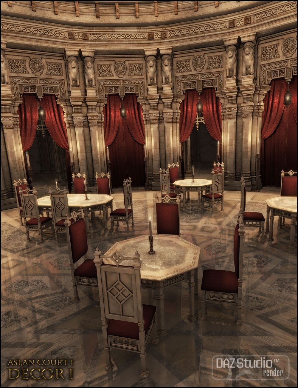 Aslan Court 1: Decor 1 by: Jack Tomalin, 3D Models by Daz 3D
