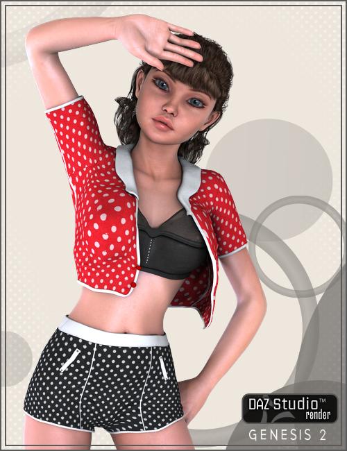 Foxy White Dots by: Karth, 3D Models by Daz 3D