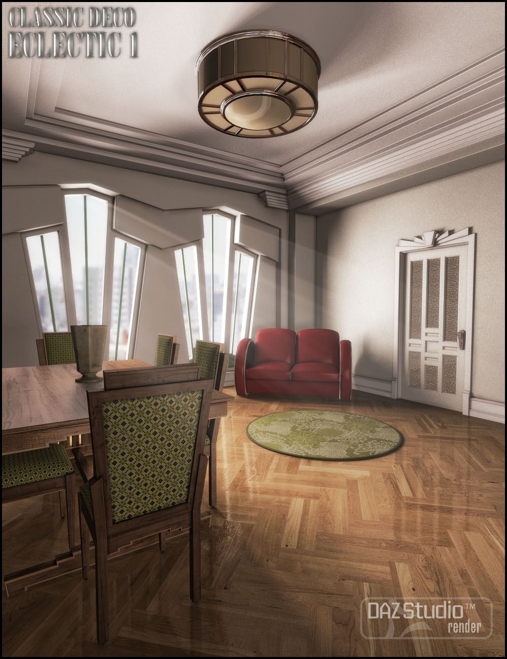 Classic Deco: Eclectic 1 by: Jack Tomalin, 3D Models by Daz 3D