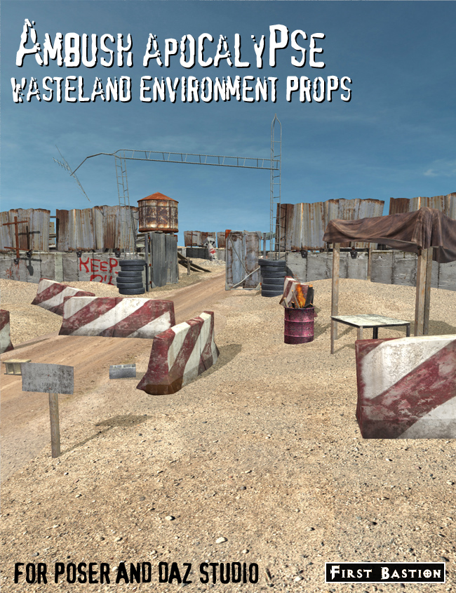 Ambush Apocalypse Wasteland Environment Props by: FirstBastion, 3D Models by Daz 3D