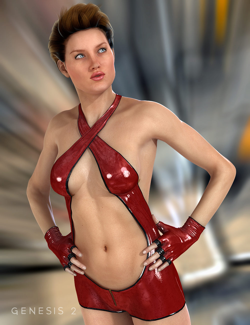 Fantasy Fighter for Genesis 2 Female(s) by: 4blueyes, 3D Models by Daz 3D