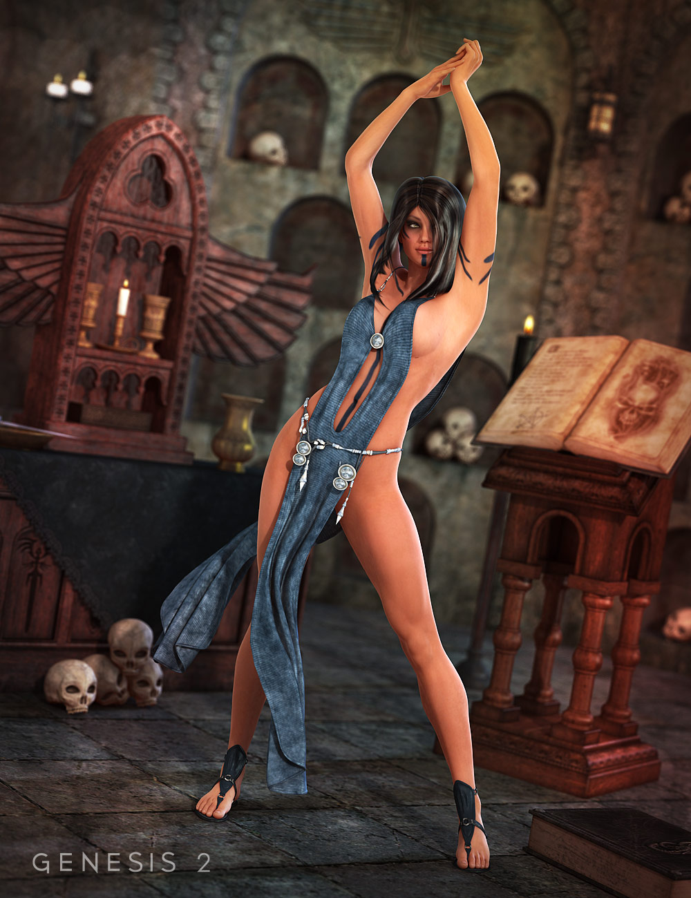 Nyx Outfit for Genesis 2 Female(s) by: MadaSarsa, 3D Models by Daz 3D
