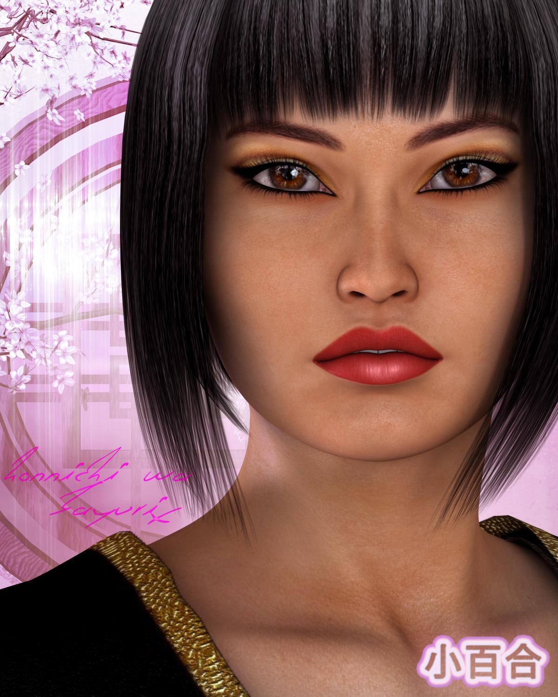 FWEJ Sayuri by: Fred Winkler Art, 3D Models by Daz 3D