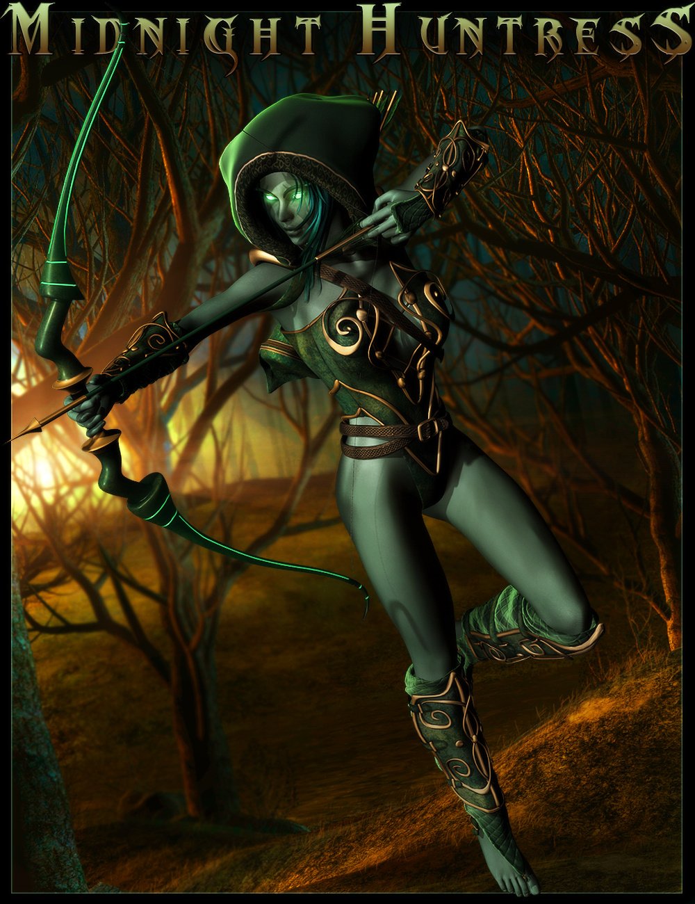 Midnight Huntress for Genesis 2 Female(s) by: IgnisSerpentus, 3D Models by Daz 3D