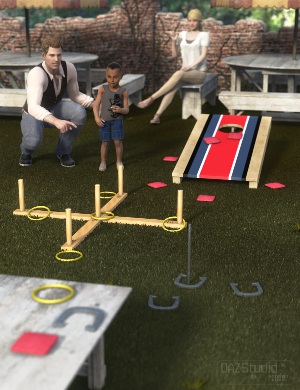 Outdoor Fun Tossing Games by: ARTCollab, 3D Models by Daz 3D