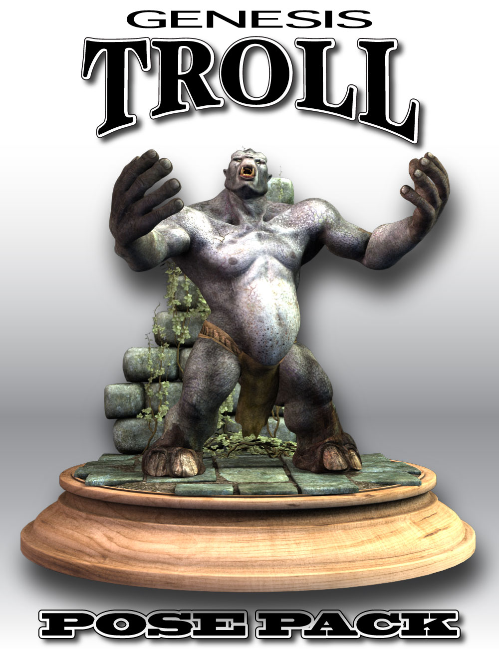 DA Genesis Troll Poses by: Design Anvil, 3D Models by Daz 3D