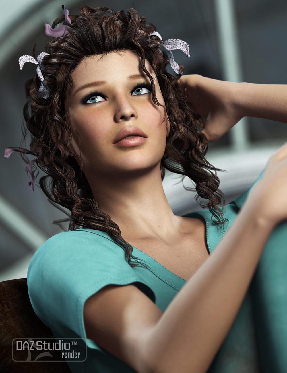 Crazy Locks Female Hair by: goldtassel, 3D Models by Daz 3D