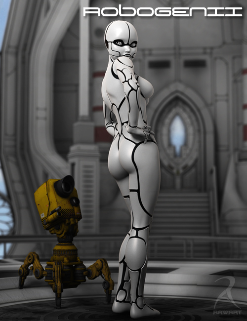 RoboGenII by: RawArt, 3D Models by Daz 3D