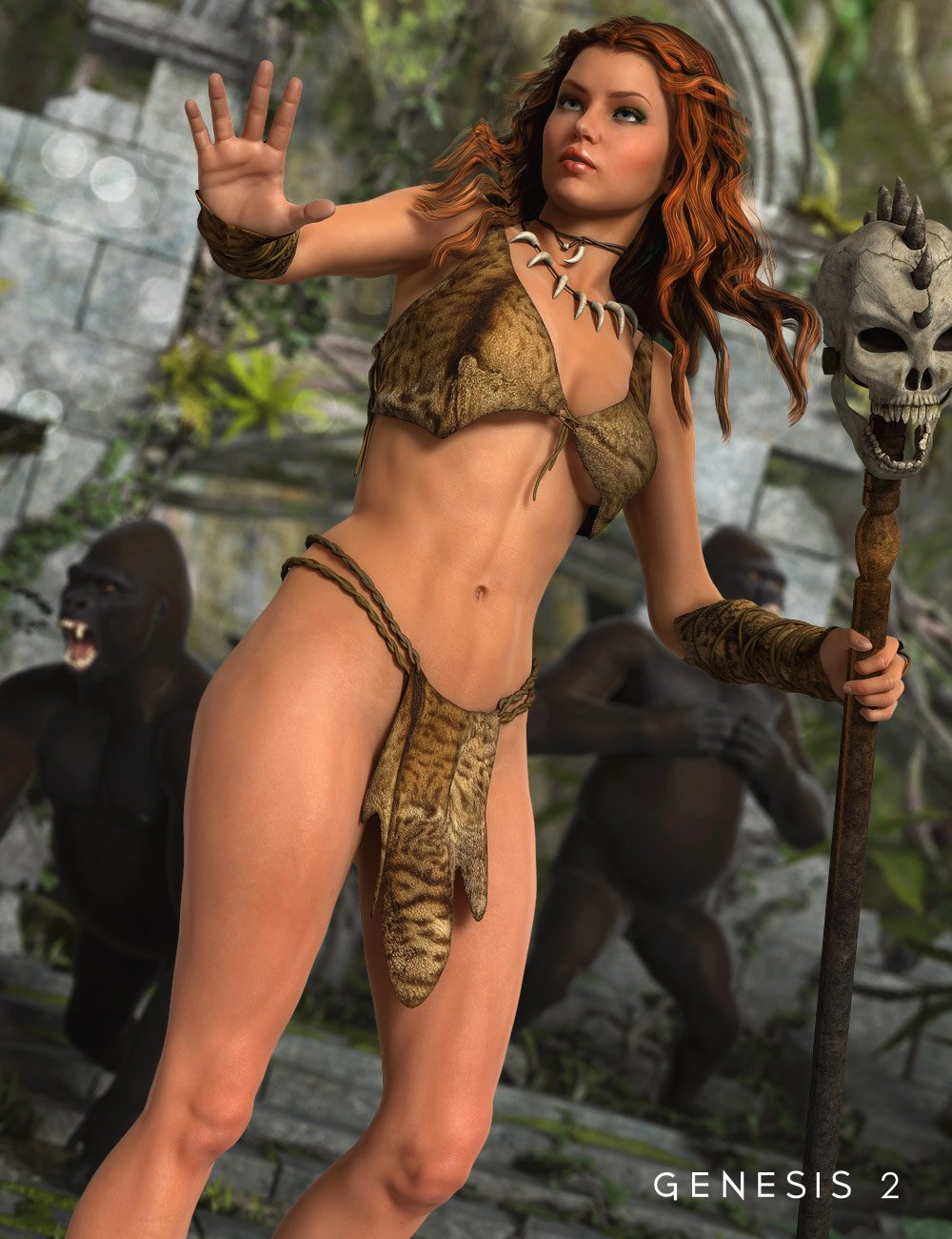 Jungle Girl for Genesis 2 Female(s) by: Mada, 3D Models by Daz 3D