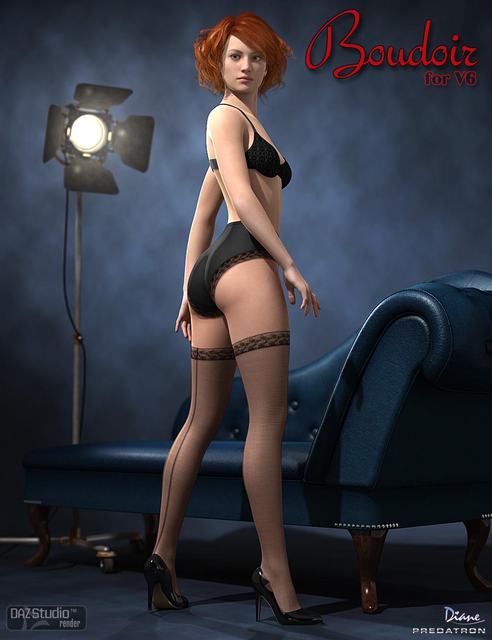 Boudoir for Victoria 6 by: DianePredatron, 3D Models by Daz 3D