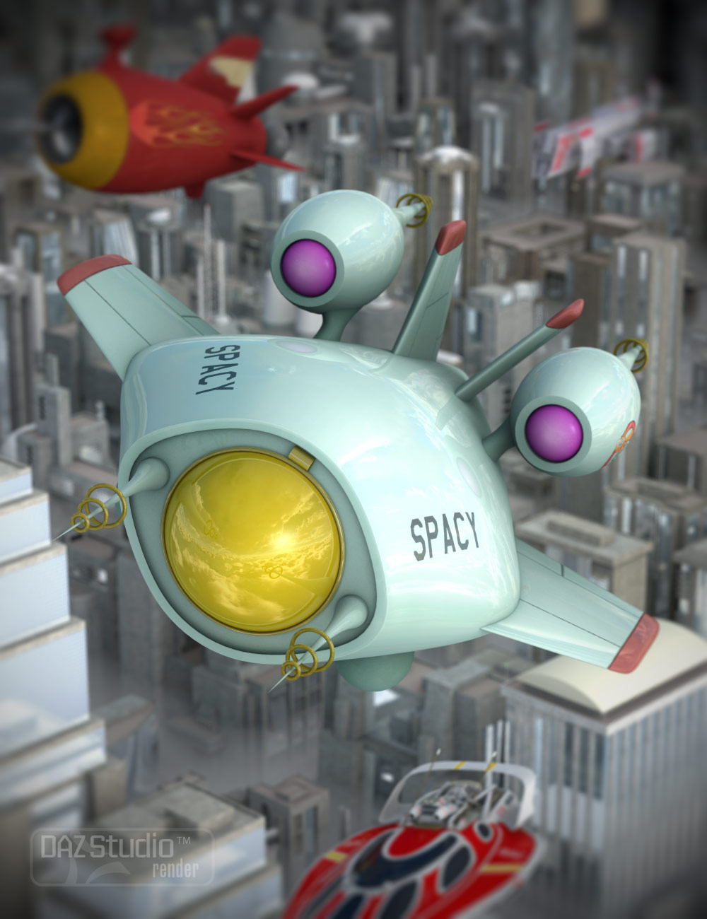 Toon Fighter Hornet by: Valandar, 3D Models by Daz 3D