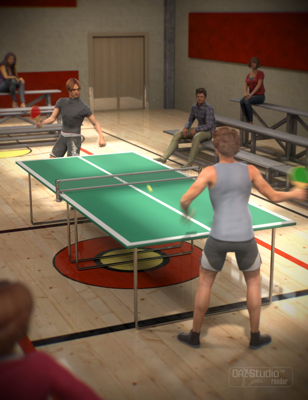 Table Tennis by: ARTCollab, 3D Models by Daz 3D