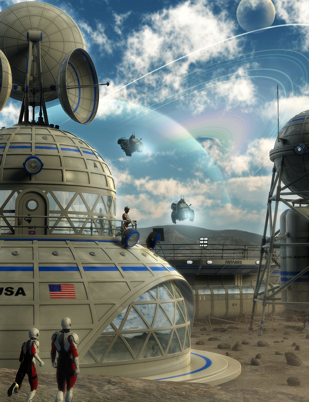 Space Base by: petipet, 3D Models by Daz 3D