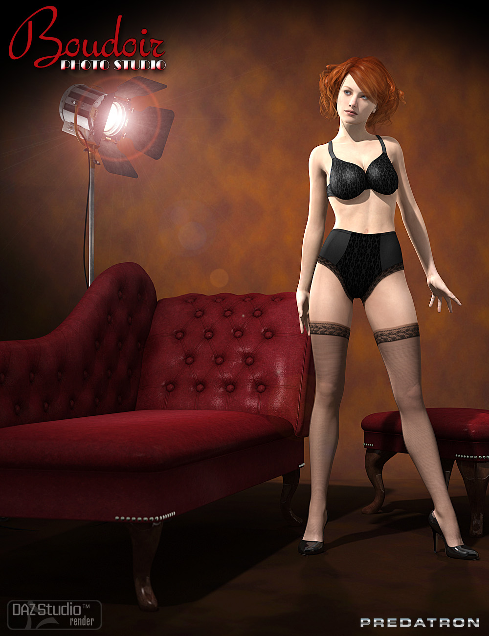 Boudoir Photo Studio and Lights by: DianePredatron, 3D Models by Daz 3D