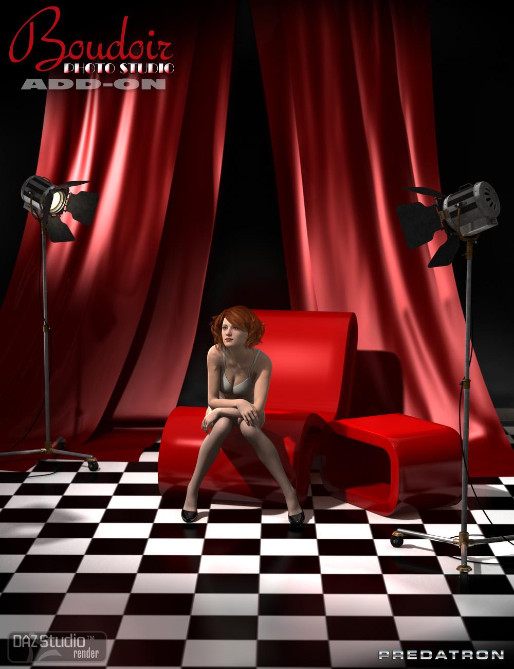 Boudoir Photo Studio Add-On by: DianePredatron, 3D Models by Daz 3D