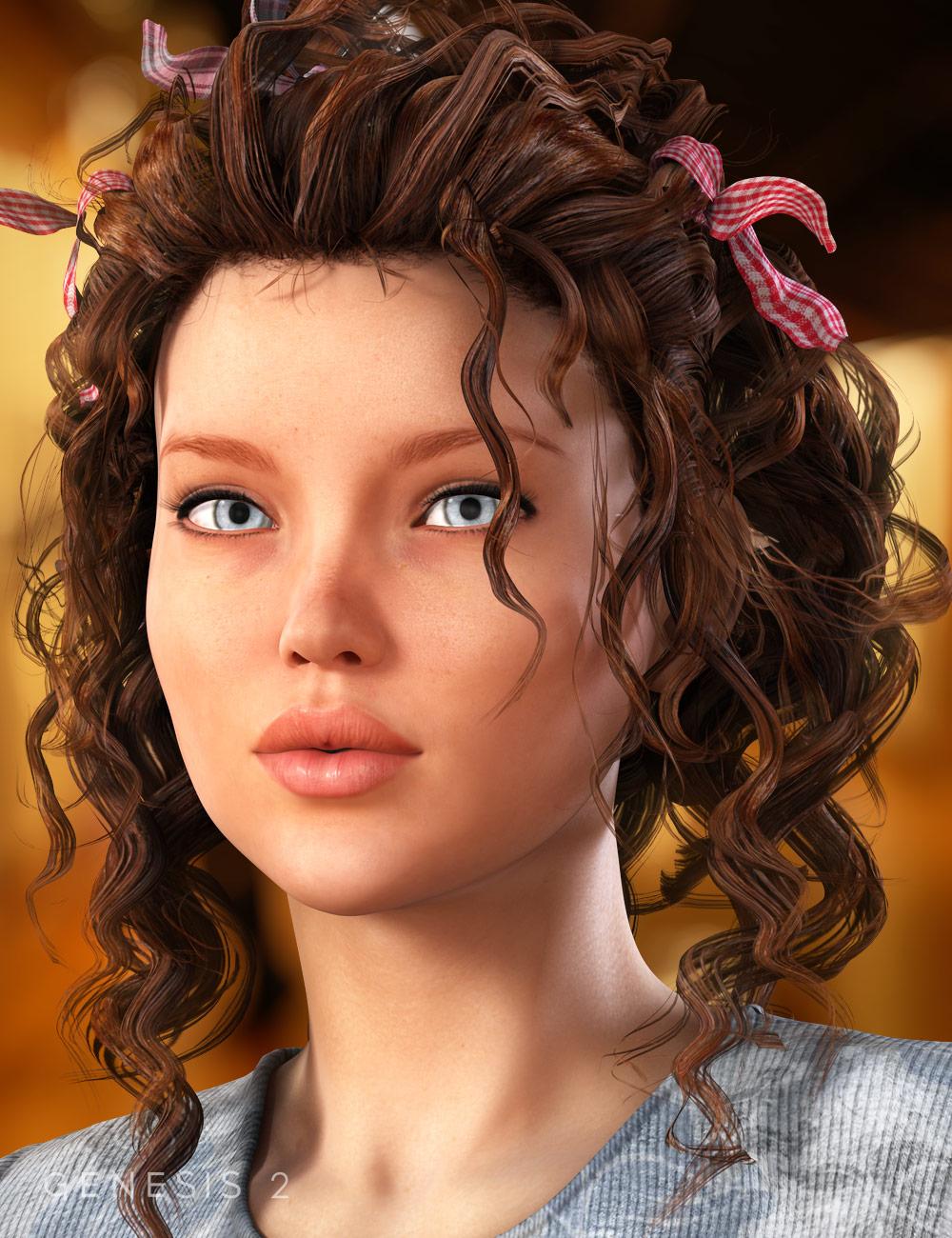 Crazy Locks Hair for Genesis & V6 by: goldtassel, 3D Models by Daz 3D