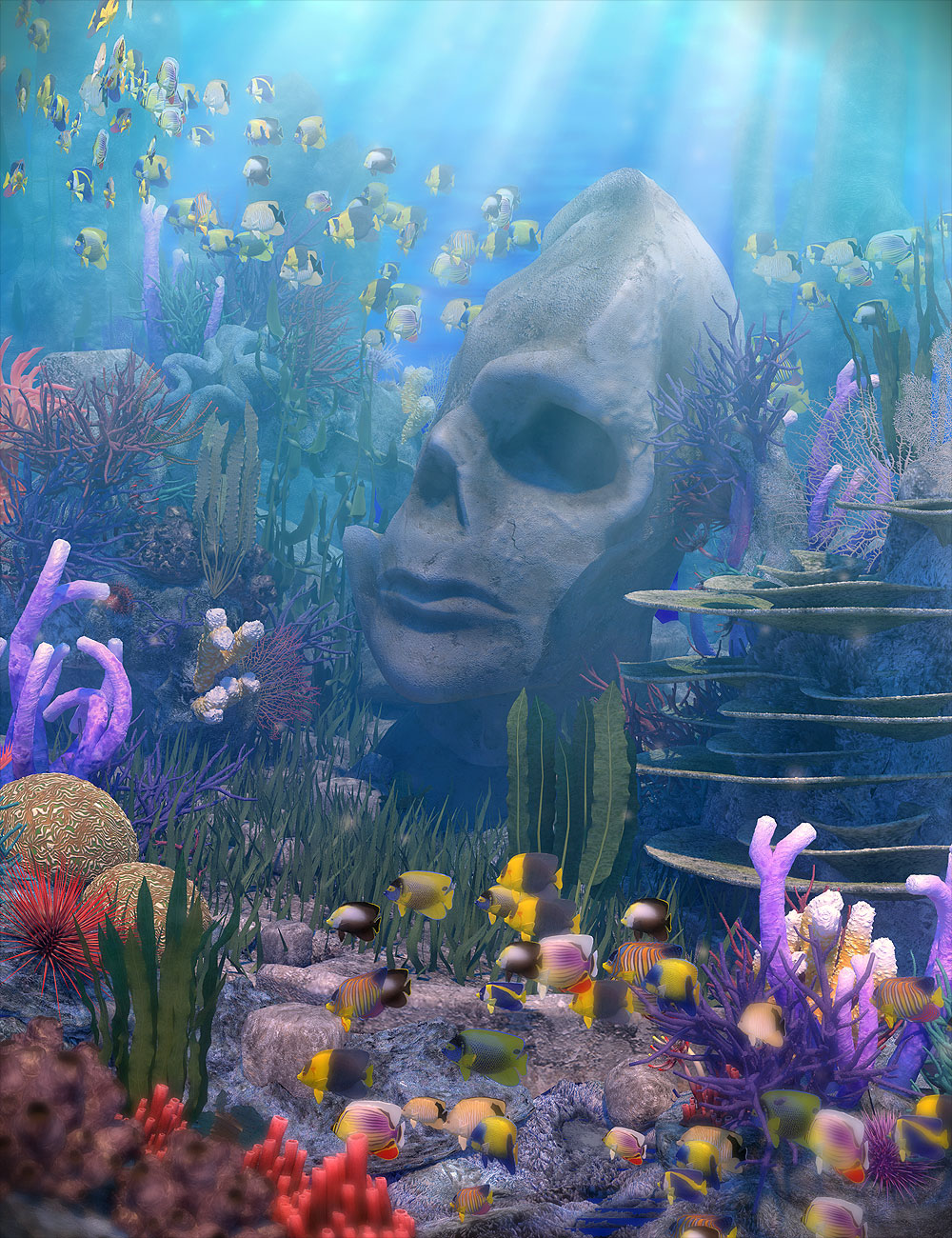 Gardens of Poseidon - Corals by: Orestes Graphics, 3D Models by Daz 3D