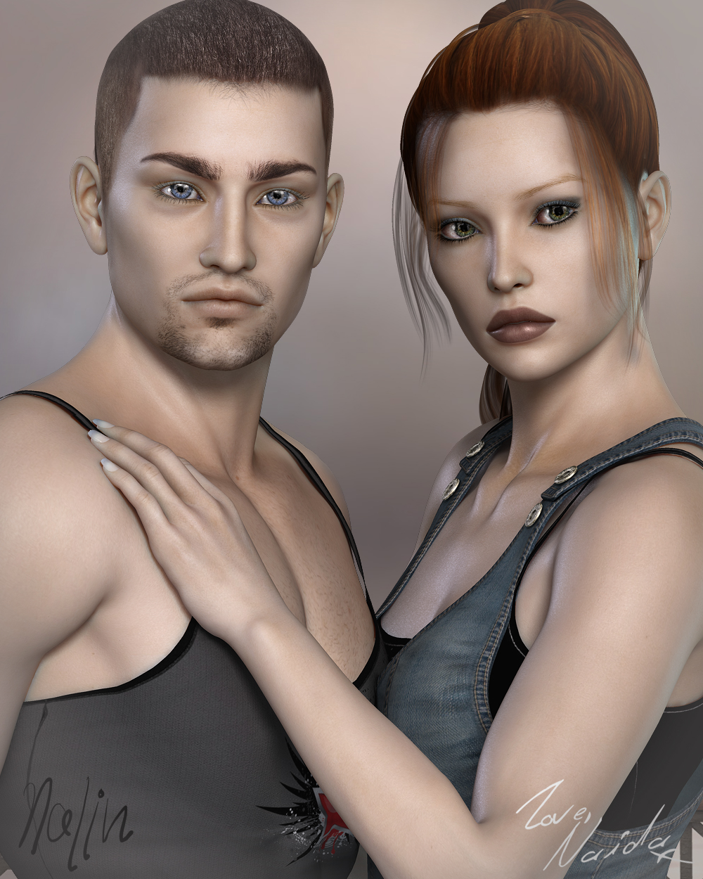 FW Naida and Nalin by: Fred Winkler Art, 3D Models by Daz 3D