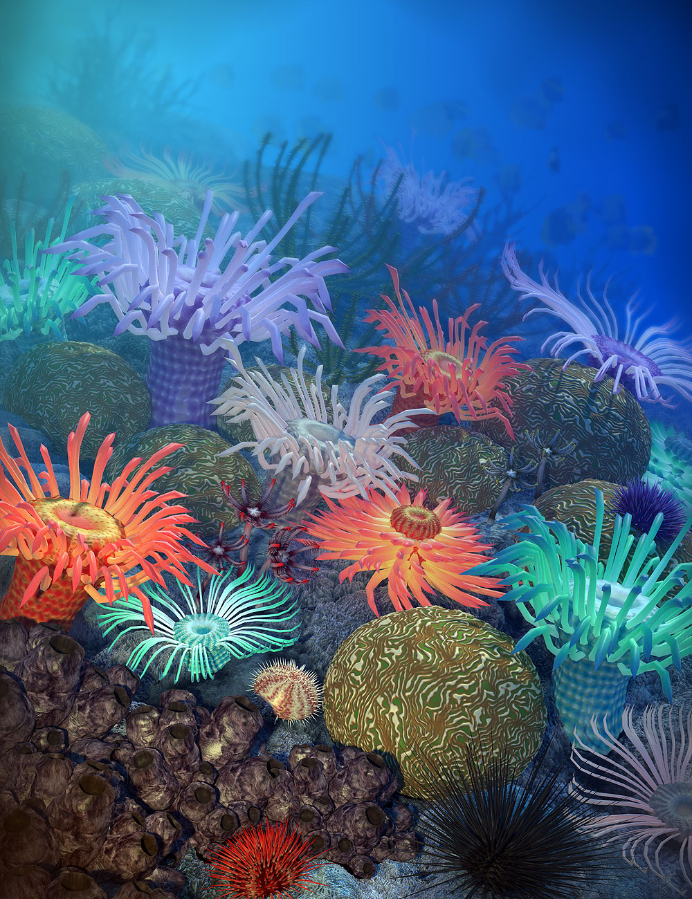 Gardens of Poseidon - Invertebrates by: Orestes Graphics, 3D Models by Daz 3D