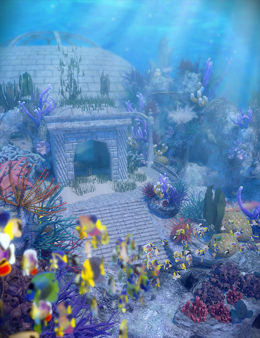 Gardens of Poseidon - Set Pack Vol. 1 by: Orestes Graphics, 3D Models by Daz 3D